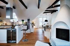 A cozy loft in Sweden boasts some interesting architectural and decorative interior details that are sure to spark a design idea or two. Description from trendir.com. I searched for this on bing.com/images