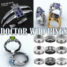 Lovely rings from Doctor Who #DoctorWho #DW #rings