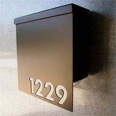 20 best Cobblecrest Mailbox and House Numbers images on Pinterest     Custom House Number Mailbox No  1310 Drop Front in Powder Coated Aluminum