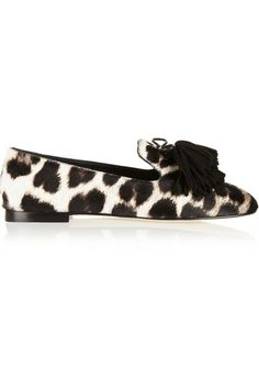 GIUSEPPE ZANOTTI Dalila leopard-print calf hair loafers