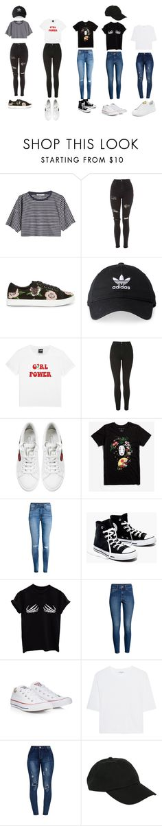 """""""21st Century Girls"""" by yeyebunny on Polyvore featuring moda, T By Alexander Wang, Topshop, Rebecca Minkoff, adidas, Marc Jacobs, Studio Ghibli, H&M, Madewell e Converse"""