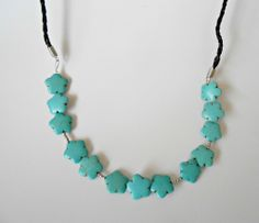 DIY Turquoise Statement Necklace with Matching Earrings {tutorial}