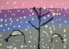 Seguim utilitzant l'hivern com a font d'inspiració per treballar la plàstica. Aquesta vegada hem realitzat una composició amb pintura a rod...