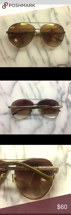 Cavalli Aviator Sunglasses Just Cavalli gold/amber mirrored aviator sunglasses. Just Cavalli Accessories Sunglasses