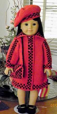 Ravelry: Project Gallery for American Girl Coat and Hat pattern by Astrid Aesoey