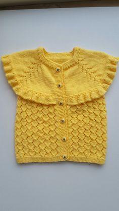 knit baby vest yellow baby vest knitting baby от KnittingAndYarns