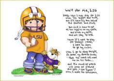 Wait For Me LSU Tigers Football Player Art Print $25.00