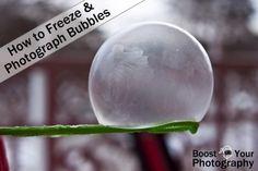 Photographing frozen bubbles