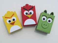 Bolsas graciosas para una fiesta Angry Birds / Fun treat bags for an Angry Birds party