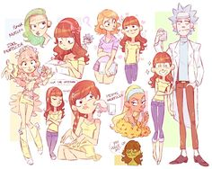 Tagged with rick and morty, genderbend; I'll just leave this here Cartoon As Anime, Cartoon Art, Cartoon Characters, Samurai Jack, Ricky Y Morty, Character Art, Character Design, Fanart, Estilo Anime