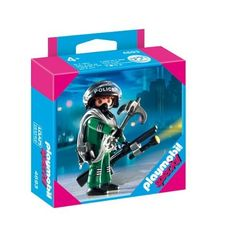Playmobil 4693 Police Special Unit by Playmobil. $5.99. 3.9 x 3.9 x 1.4 inches. Ages 4 and up. With his grappling hook and rope in hand, the SWAT Officer is prepared for any obstacle. Set includes a figure and accessories.