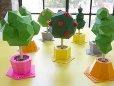 """Low poly tree sculptures"" - It's like a Nintendo 64 garden!"