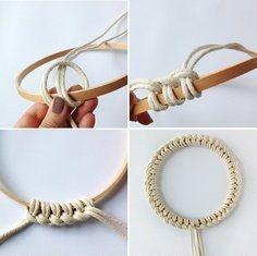 DIY bracelet tressé.