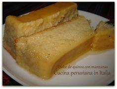 Cucina peruviana in Italia: Quinoa - Dulce de quinoa con manzanas