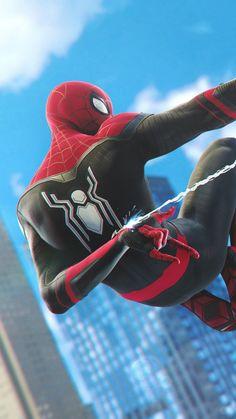 Spider-Man PS4 Black Spiderman, Spiderman Art, Amazing Spiderman, Marvel Comics, Marvel Art, Marvel Memes, Best Marvel Characters, Superhero Poster, Avengers Wallpaper