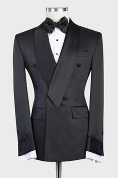 Wedding Outfits For Groom, Wedding Men, Wedding Suits, African Men Fashion, Mens Fashion, Black Double Breasted Suit, Black And White Jacket, Tuxedo Suit, Stylish Mens Outfits