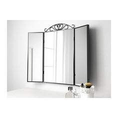 Mirror on chimney breast above shoe racks Table mirror KARMSUND Black £35 Width:	80 cm Height:	74 cm