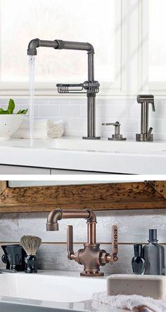 This Vintage Bathroom Decor Will Melt Your Heart Pinterest - Industrial bathroom sink faucet