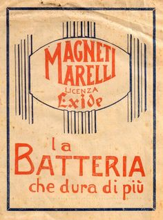 Pubblicità originale Anni 20 Magneti Marelli advertising werbung old reklame zz