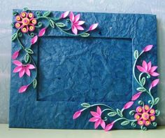 Quilled photo frame - Quilled Creations Quilling Gallery