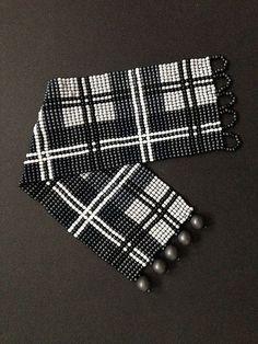 Loom bracelet pattern - Scottish tartan
