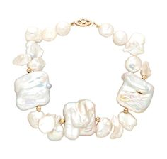 Buy 14K Gold Large Coin Freshwater Pearl Bracelet, Pearl Lustreand Bracelets from The Shopping Channel, Canadas home shopping network-Online Shopping for Canadians