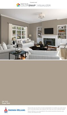 I found this color with ColorSnap® Visualizer for iPhone by Sherwin-Williams: Taupe Tone (SW 7633).