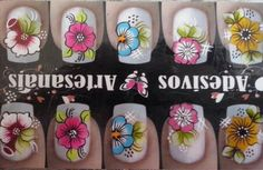 Flower Nails, Nail Art, Flowers, Nail Art Flowers, Nail Stickers, Applique Quilts, Chic Nails, Toe Nail Art, Pretty Toe Nails
