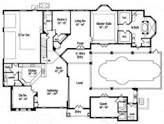Courtyard House Plans With Pool | Indoor Outdoor Living in a ...
