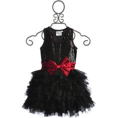 Ooh La La Girls Black Wow Dream Dress (465 BRL) ❤ liked on Polyvore featuring girls dresses