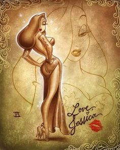 Love Jessica Rabbit by Artist Noah