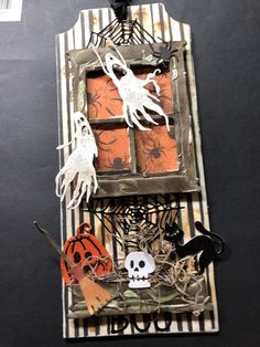 Halloween Tags, Halloween 2019, Halloween Decorations, Fall Cards, Holiday Cards, Making Greeting Cards, Junk Art, Hallows Eve, Tim Holtz