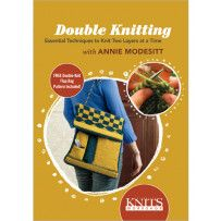 Interweave Knits Workshop: Double Knitting: Essential Techniques to Knit Two Layers at a Time with Annie Modesitt DVD Double Knitting, Baby Knitting, Knitting Daily, Meringue, Knitting Videos, Stockinette, Garter Stitch, Needles Sizes, Slip Stitch