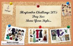 Rosie's Cottage: Blogtember Day Six: Share Your Style Vintage Beauty, Your Style, Blogging, Cottage, Posts, Frame, Day, Life, Decor