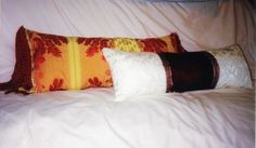 Red Velvet and Brocade Pillow by RabbitsRun on Etsy