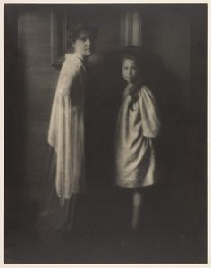 Mrs. Stieglitz and Katherine  Edward J. Steichen (American (born Luxembourg), Bivange 1879–1973 West Redding, Connecticut)  Date: 1904, printed 1908 Medium: Gum bichromate over platinum print Dimensions: 49.5 x 38.6 cm. (19 1/2 x 15 3/16 in.)