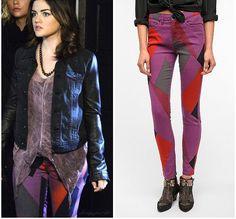 Shop Your TV: Pretty Little Liars: Season 3 Episode 12 Aria's Colorblock Geometric Jeans