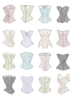 Different corsets.