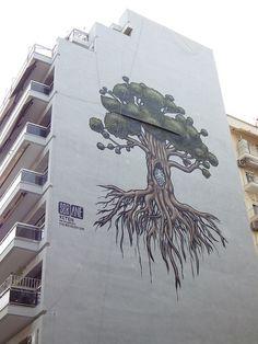 tree mural 2013, thessaloniki, greece