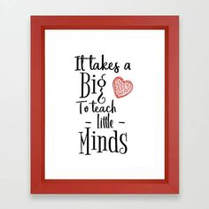 Teacher appreciation, gift for teacher, Teacher printable, teacher sign, Instant download, classroom decor, big heart to teach