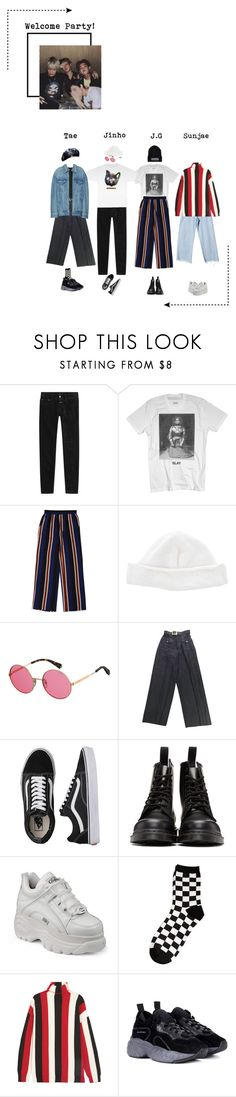 """Miyoung's Welcome Party!"" by di-verse ❤ liked on Polyvore featuring Closed, Acne Studios, Polaroid, Chanel, ODD FUTURE, Vans, Dr. Martens, StyleNanda, MSGM and men's fashion"