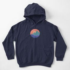 """""""Vintage Mountains Sunset"""" Kids Pullover Hoodie by ind3finite 
