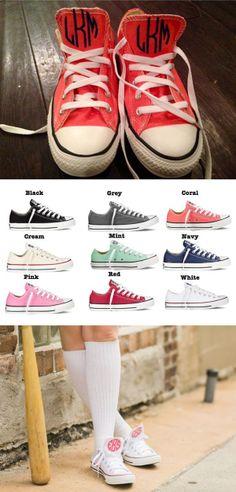 Custom Monogram Chuck Taylor Sneakers!!