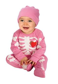 Rubie's Costume My First Halloween Pink Skeleton Costume, Pink, 6-12 Months #Rubies #Costume #First #Halloween #Pink #Skeleton #6-12 #Months