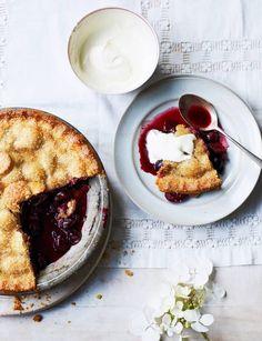 Cherry pie with a buttermilk crust