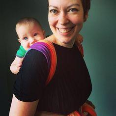 •Eyvindur (7 months) and Karen•First back carry. #carrythem #babywearing #babywearingTO #firstbackcarry #ruck #happybaby #babywearingftw #wearallthebabies #babywearingconsultant #babywearingeducator #fortheloveofbabywearing
