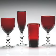 """William Yeoward """"Ruby"""" Crystal Stemware (Assorted Pieces) 