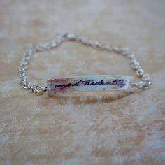 Jane Austen 'Most Ardently' bracelet door Lisasbookadventures