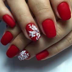 Art The elegant red matte manicure is one of the high demand among ladies. Such nails are exquisite and gorgeous.The elegant red matte manicure is one of the high demand among ladies. Such nails are exquisite and gorgeous. Red Matte Nails, Red Nail Art, Shellac Nails, Nail Manicure, Acrylic Nails, Nail Polish, Brown Nails, Coffin Nails, White Nail Designs