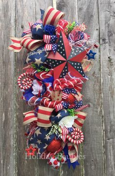 A personal favorite from my Etsy shop https://www.etsy.com/listing/275956932/patriotic-wreath-patriotic-swag-usa
